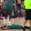 Basketball player's flop may have stopped a brawl