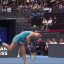Tennis player loses, hits herself with ball
