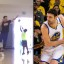 Zaza Pachulia plays 1-on-5 vs. Warriors kids