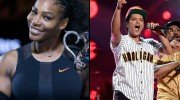 Serena Williams had the best time at Bruno Mars concert