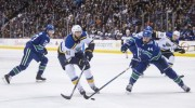 Schenn scores in OT to lift Blues past Canucks