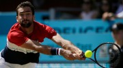 Cilic saves match point v Djokovic to win Queen's Club final
