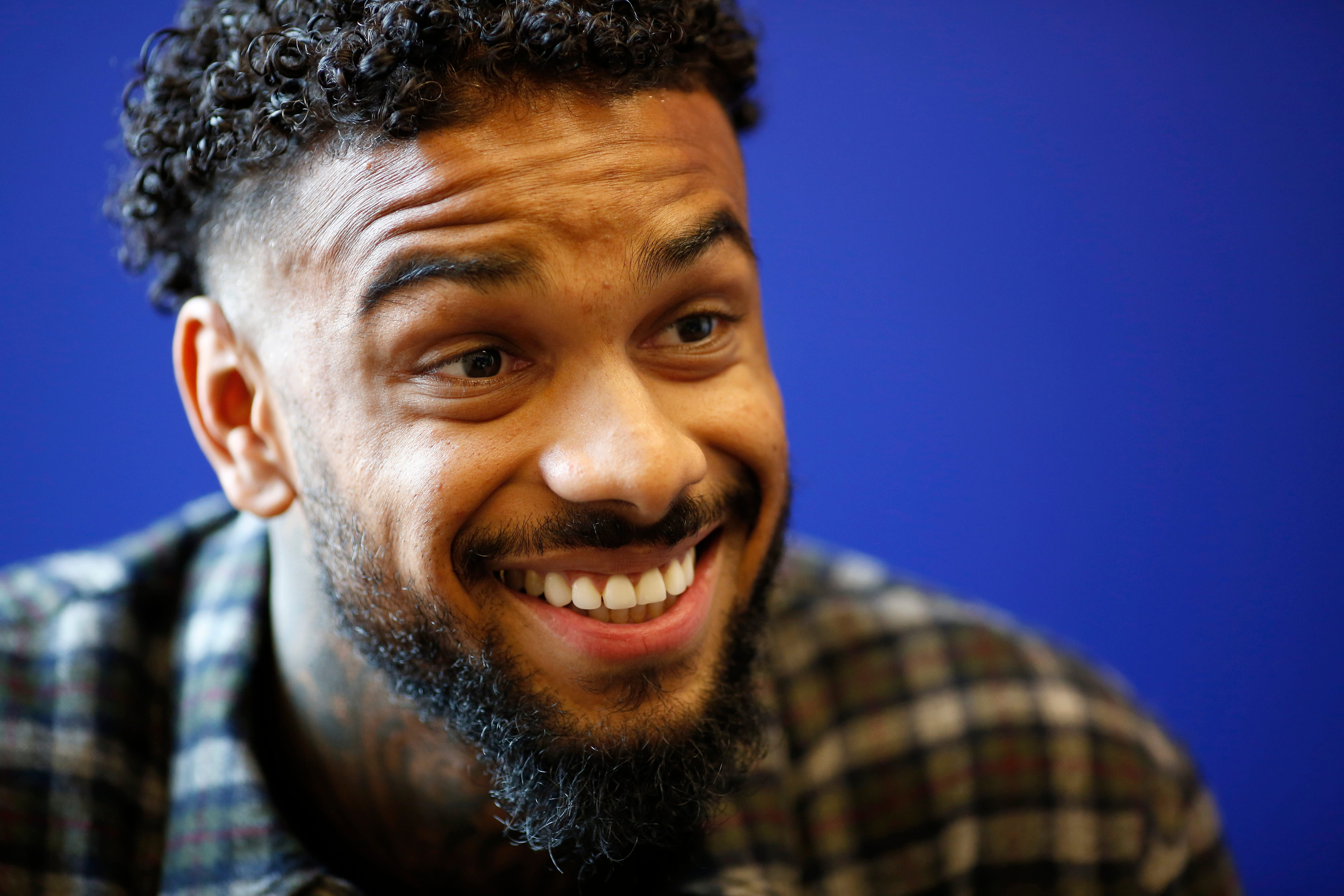 New FC Cincinnati signee Jürgen Locadia speaks with The Enquirer at the FC Cincinnati training facility in Milford, Ohio, on Monday, Feb. 3, 2020. The Dutch striker comes to Cincinnati via a transfer from the English Premier League's Brighton and Hove Albion. He must pass a physical Monday, but is expected to be formally introduced as an FC Cincinnati player this week.
