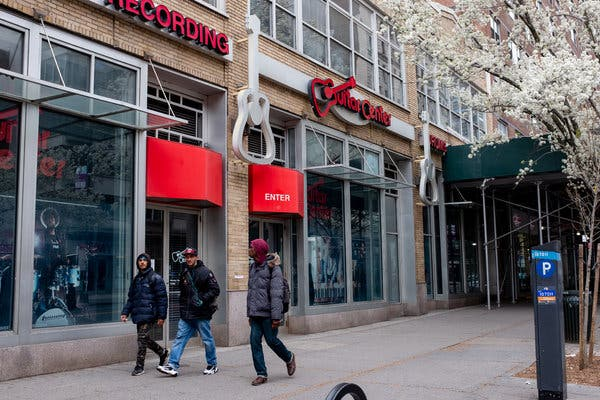 Guitar Center has closed about 75 percent of its stores.