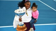 Serena Williams' daughter makes an adorable doubles partner on the tennis court